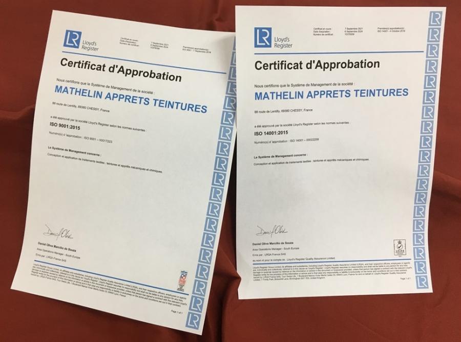 ISO 9001 & 14001, MAT à nouveau certifié pour 3ans